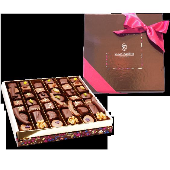 Chocolats assortis boîte fantaisie