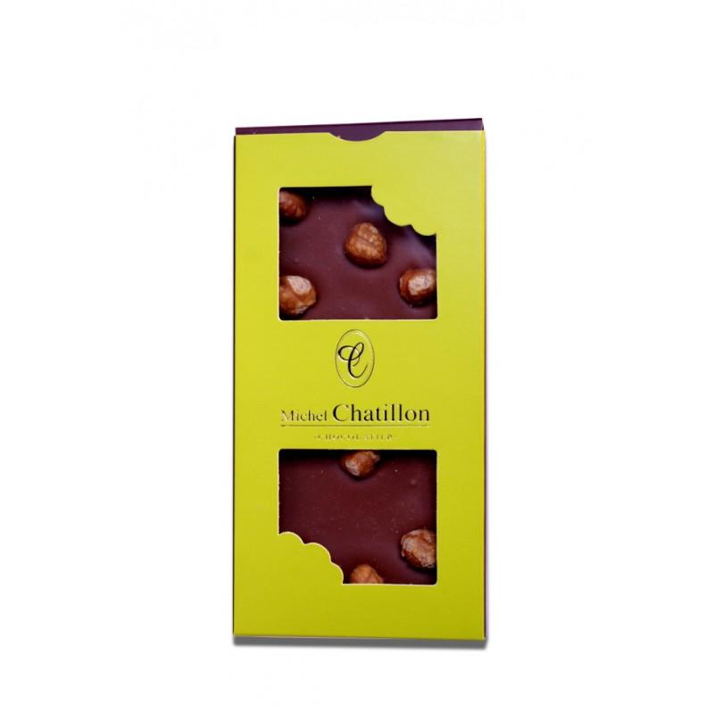 Tablette chocolat lait et noisettes Michel Chatillon