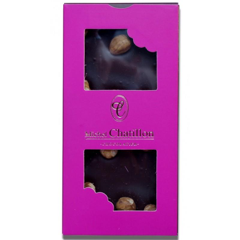 Tablette chocolat noir et noisettes Michel Chatillon