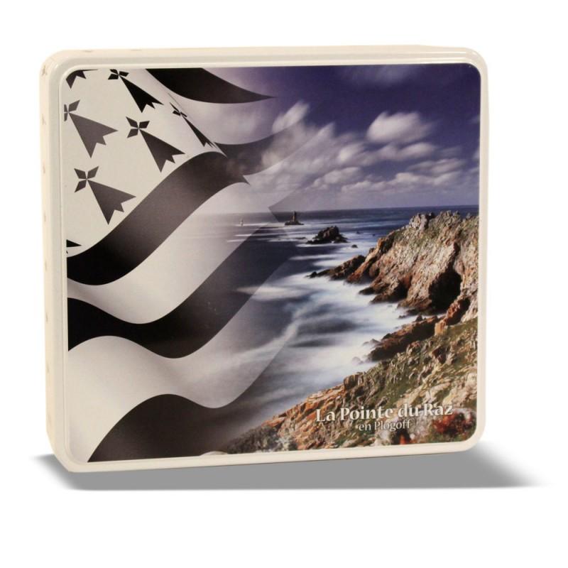 Boîte métal carré paysage breton