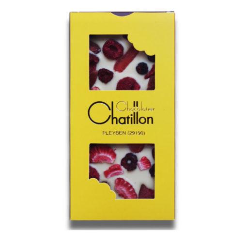 Tablette chocolat blanc fruit rouge Michel CHatillon