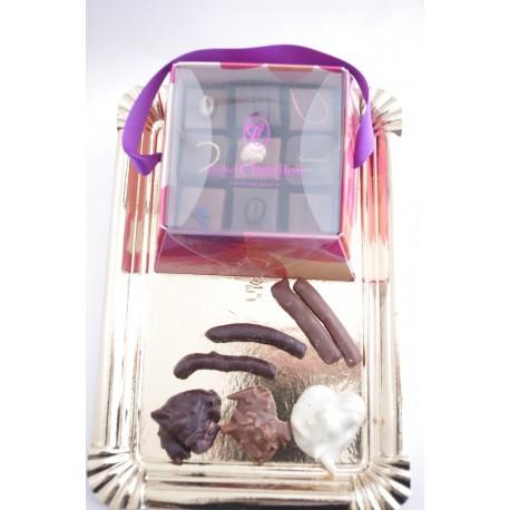 Boîte fantaisie flore pétale Chatillon Chocolat