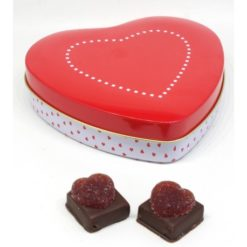 Coeur en métal 9 chocolats