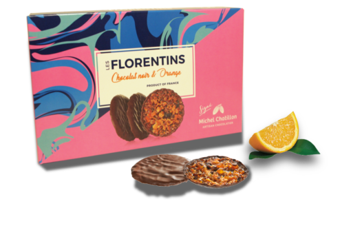 Florentins chocolat noir et orange 100g