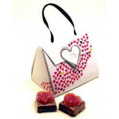 Mini sac cœur de Plougastel chatillon chocolat